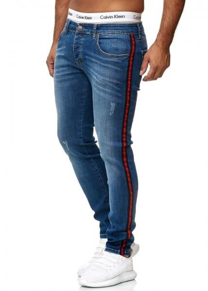 OneRedox Designer Jeans Pantalons Jeans pour hommes Coupe Régulière Skinny Fit Basic Stretch Jeans Pantalons Modèle 611