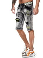 Herren Shorts Bermuda Jeansshorts Destroyed Wash Clubwear Modell E7531
