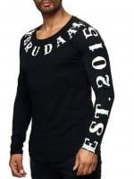 Herren Longsleeve Shirt Langarm Sweatshirt Langarmshirt Modell BRU-003