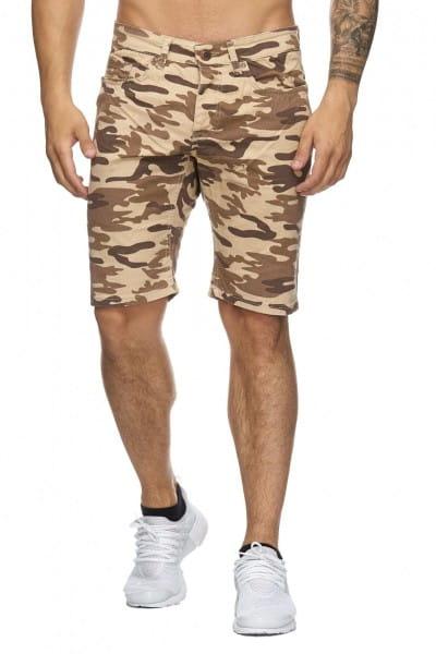 OneRedox Hommes Bermuda Shorts Bermuda Shorts Sport Hommes Casual Shorts Short Pantalon court Pantalon Cargo Pantalon Cargo 4037 Camouflage Beige