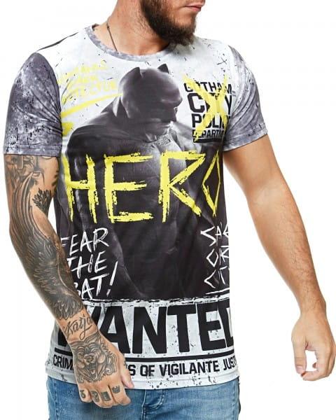Herren T-Shirt Kurzarm Rundhals Hero Wanted Modell 1446