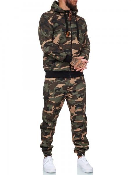 Koburas Herren Jogginganzug Trainingsanzug Männer Sportanzug Fitness Outfit Streetwear Tracksuit Jog
