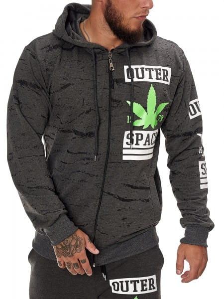 OneRedox Sweatshirt Homme Sweatshirt Manches Longues Manches Longues Sweat à capuche manches longues modèle h-1087
