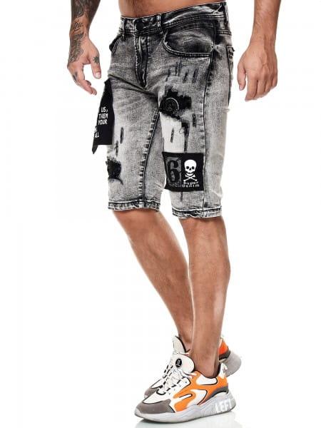 Herren Shorts Bermuda Jeansshorts Destroyed Wash Clubwear Modell E7520