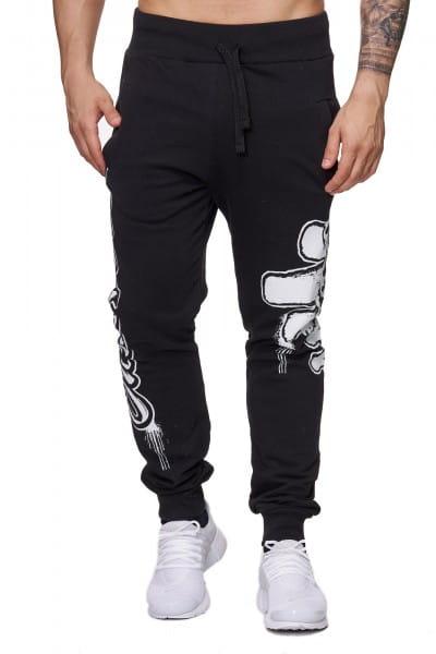 OneRedox Pantalon de jogging pour hommes Pantalon de jogging Streetwear Sports Modèle 678 Noir