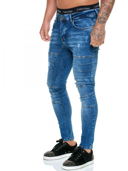 Designer Mens Jeans Pants Regular Skinny Fit Jeans Basic Stretch Model j-8010