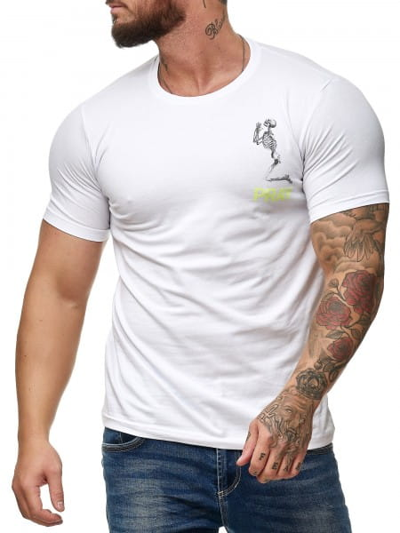 Heren T-Shirt Polo Shirt Shortsleeve Printshirt Polo Korte mouwen prayc1