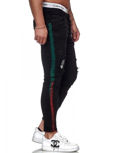 Pantalon en jean pour hommes Coupe étroite pour hommes Jeans skinny ko6008j-st