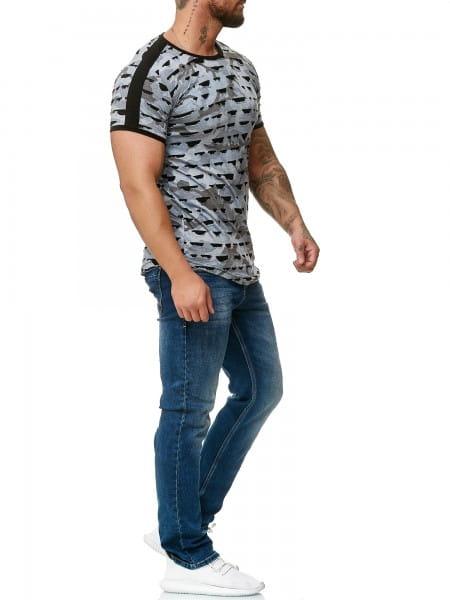 Heren T-Shirt Polo Shirt Korte mouw Printshirt Polo Korte mouw 1330c