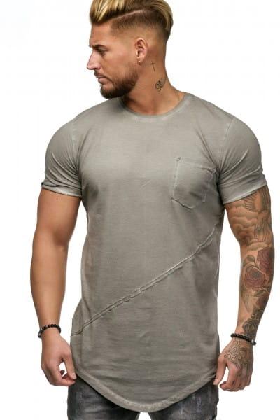 OneRedox Chemise pour homme Sweat à capuche à manches longues Chemise à manches courtes Sweatshirt T-Shirt 9032