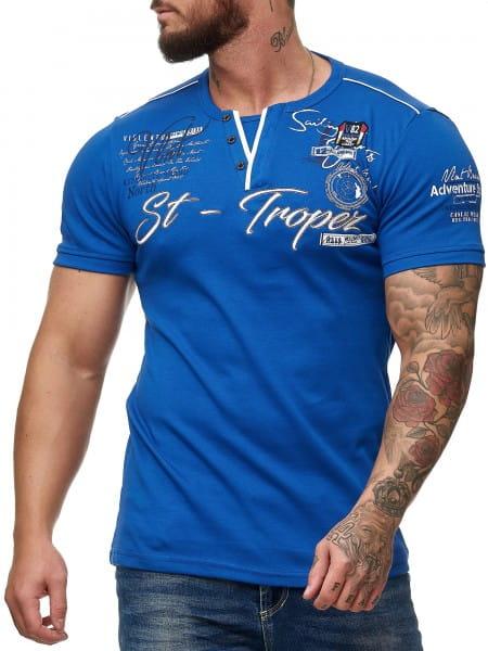 OneRedox T-shirt Homme Hommes Hoodie Sweat à capuche manches longues Sweatshirt manches courtes St. tropez 3485
