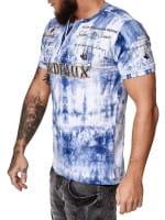 OneRedox Herren T-Shirt Kurzarm Rundhals Bordeaux Tee Modell 3589