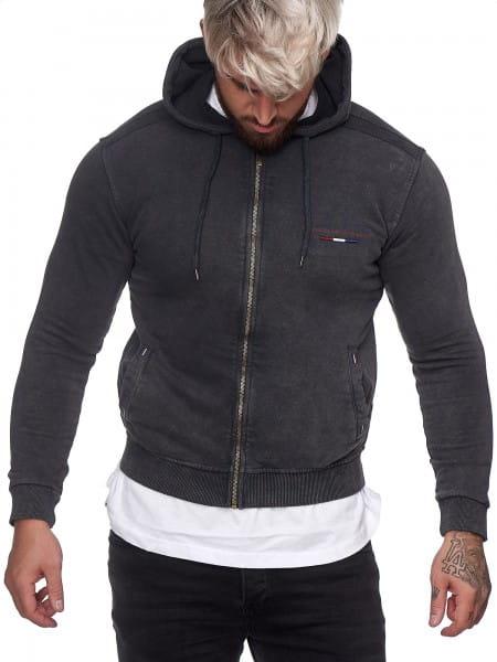 Heren Sweatshirt Longsleeve Longsleeve Hoodie Model h-1326