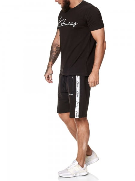 Koburas Herren Short-Jogginganzug Shortanzug Sportanzug Short T-Shirt Modell 2158