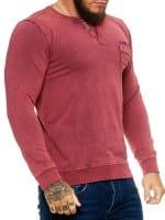 OneRedox Sweatshirt pour hommes Sweatshirt manches longues à capuche manches longues à manches longues Modèle h-1482