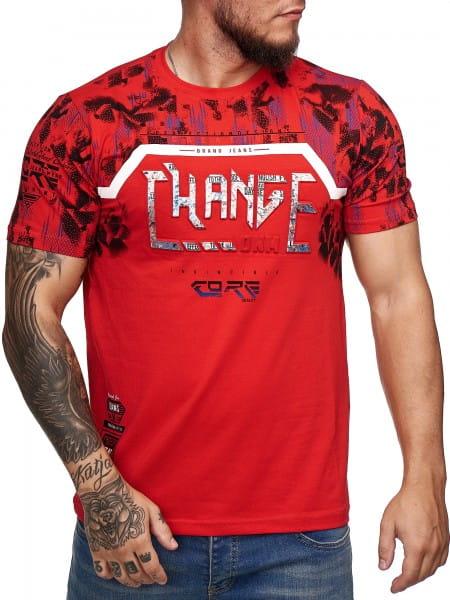 Herren T-Shirt Poloshirt Shirt Kurzarm Printshirt Polo Kurzarm 3DS6