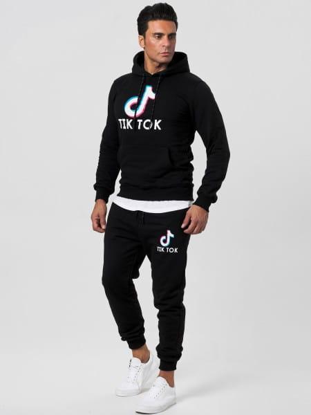 OneRedox Jogginganzug Print Unisex Influencer Sportanzug Social Media Trend Outfit Streetwear Joggin