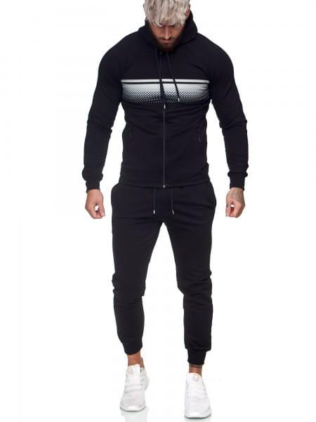 Survêtement de jogging pour hommes Survêtement de sport Survêtement de sport Streetwear jg-1086
