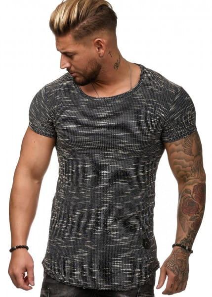 Herren T-Shirt Poloshirt Shirt Kurzarm Printshirt Polo Kurzarm W25C