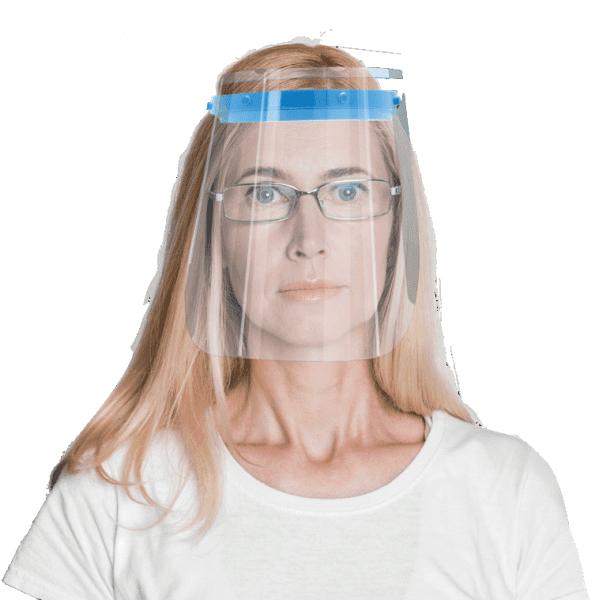 Premium Gesichtsschild Visier aus Kunststoff Schutzschild Gesicht Wiederverwendbarer Gesichtsschutzs