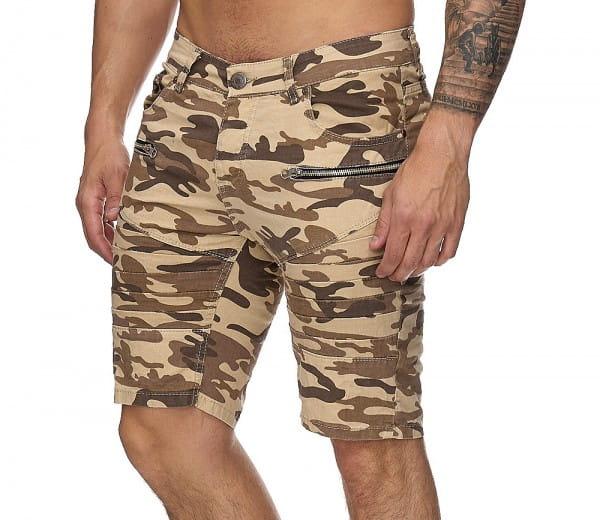 OneRedox Hommes Bermuda Shorts Bermuda Shorts Hommes Sport Shorts Casual Shorts Short Pantalon court Cargo Pantalon Cargo 3231 Camouflage Beige