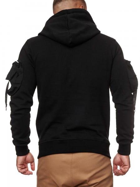 OneRedox Herren Hoodie Kapuzenpullover Pullover für Männer Pulli Oberteil Sweatshirt Sweater Jogging