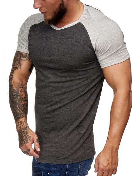 Herren T Shirt Kurzarm Poloshirt Polo Shirt Sweatshirt Modell 2031 Antrazit Grau XL