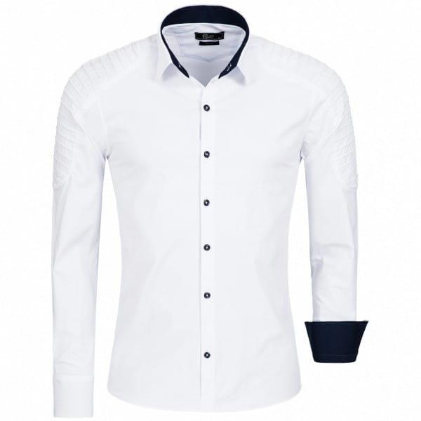 Heren Shirt Katoen Lange Mouwen Shirt Slim Fit Casual Shirt Easy Care 1137