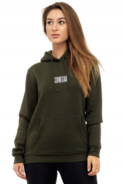 Damen Hoodie Kapuzenpullover Pullover Pulli Bauchtasche Modell SCH-1003