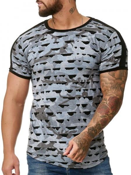 OneRedox Chemise à capuchon à capuchon manches longues Chemise à manches courtes Sweat-shirt à manches courtes T-Shirt Modèle 1330