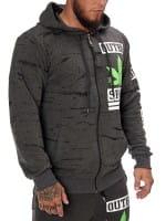 Heren Sweatshirt Longsleeve Longsleeve Hoodie Model h-1087