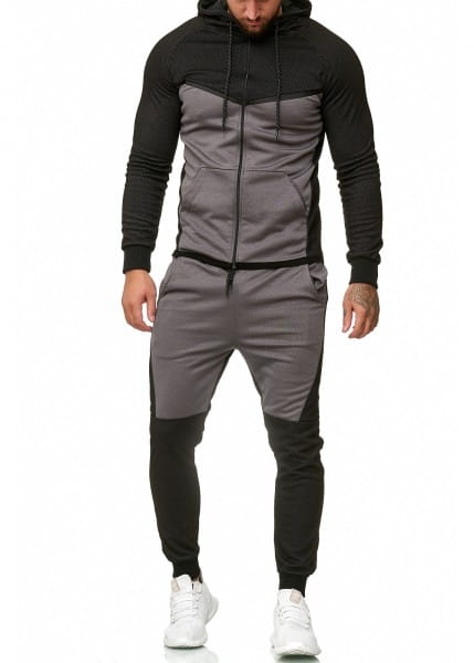Herren Jogginganzug Trainingsanzug Sportanzug Fitness Streetwear 1210C