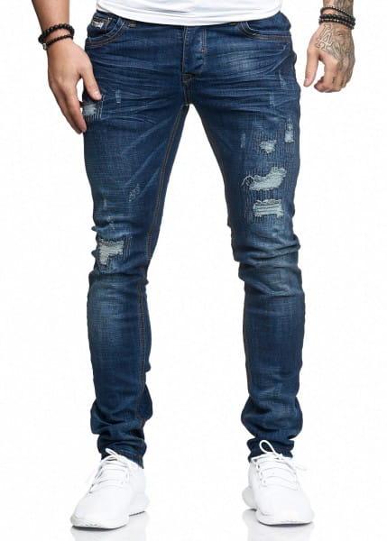 Jeans Hose Slim Fit Skinny Stretch Destroyed Washed 1287