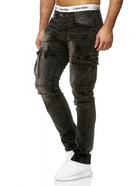 Heren Jeans Broek Slim Fit Heren Magere Denim Designer Jeans 8784c