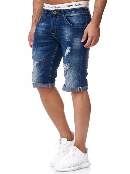 OneRedox Hommes Designer Jeans Short Short Pantalon Court Short Slim Summer Shorts Bermuda