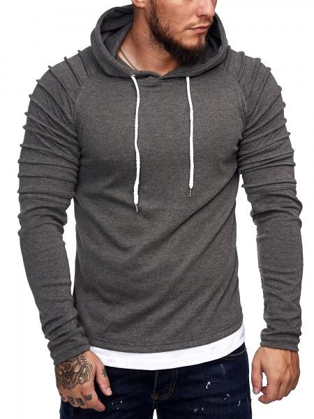 Heren trui hoodie sweatshirt met lange mouw 1072ch