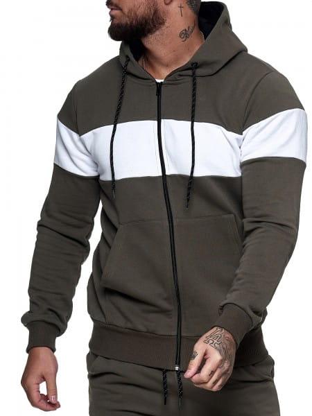 Herren Pullover Zip Jacke Sweatshirt Longsleeve Langarm Hoodie Modell H-1268