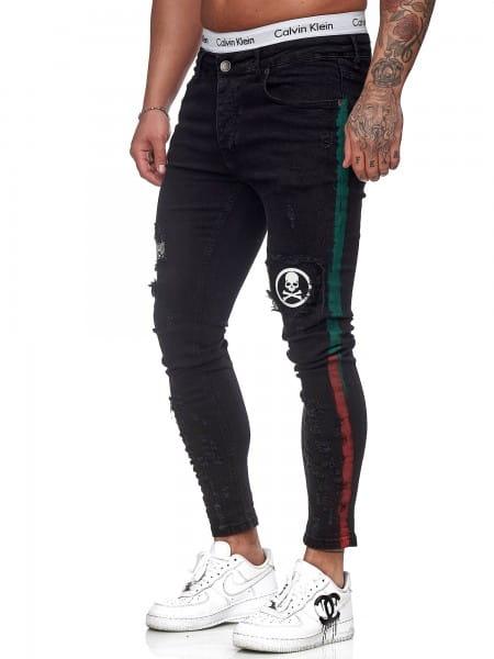 Hommes Jeans Pantalons Slim Fit Hommes Skinny Denim Designer Jeans j-8006