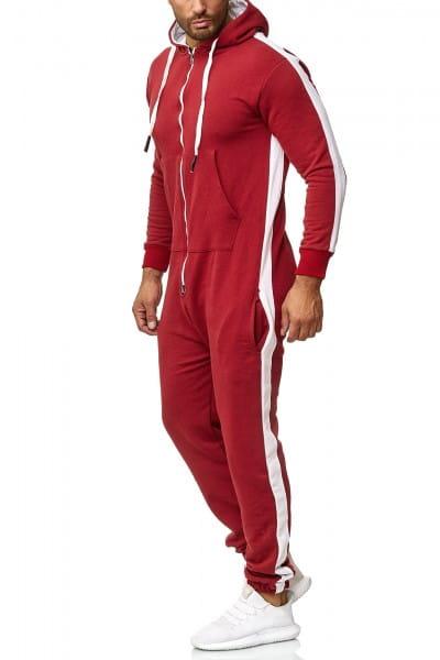 Herren Jumpsuit Einteiler Jogginganzug Trainingsanzug Streetwear 1257CS