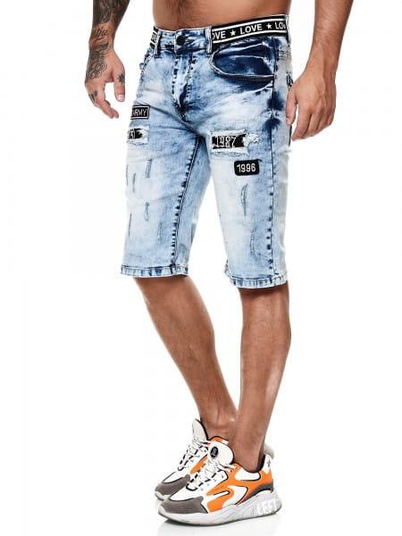 Herren Shorts Bermuda Jeansshorts Destroyed Wash Clubwear Modell E7502