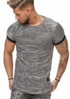OneRedox Herren T-Shirt Kurzarm Weiter Ausschnitt Oversize Tee Modell 1494